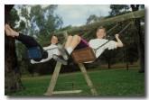 Children ona swing