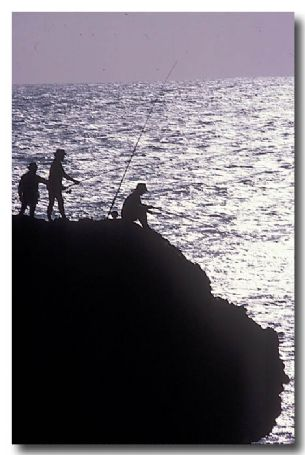 (KK-673) Fishing from rocks