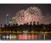 Perth city fireworks & lake Monger LLM-437 ©Jiri Lochman- Lochman LT