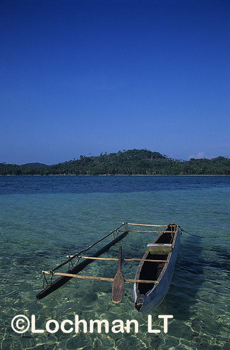 Milne Bay Province –  Louisiade Archipelago – a traditional canoe