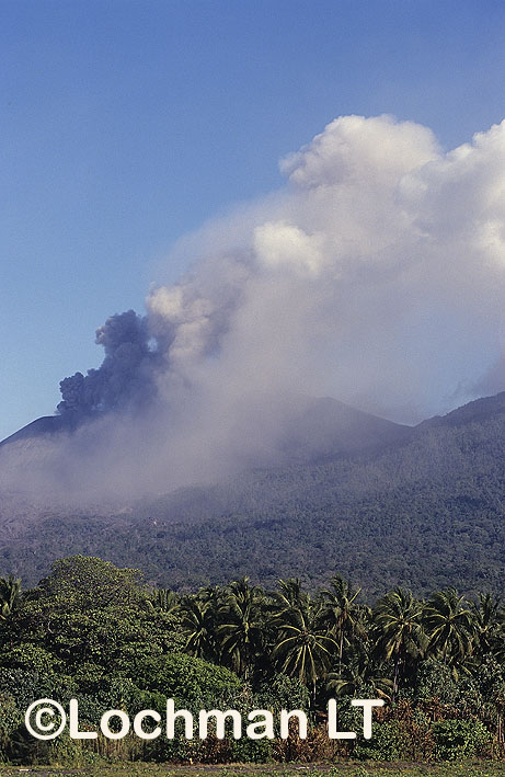 West New Britain Province – erupting volcano